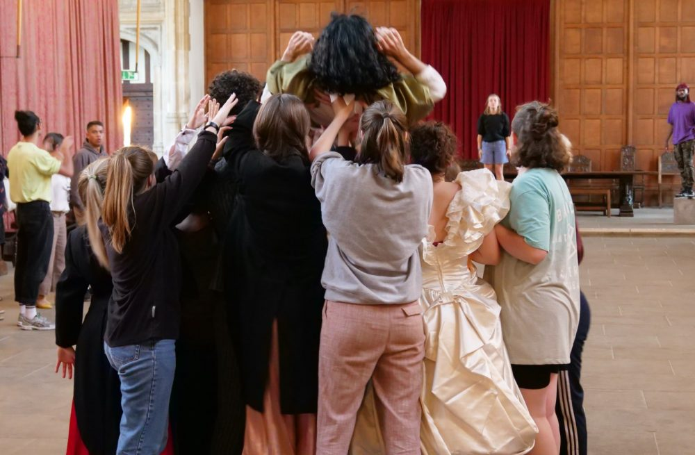Performers Rehearsing at Eltham Palace for 'Our House'