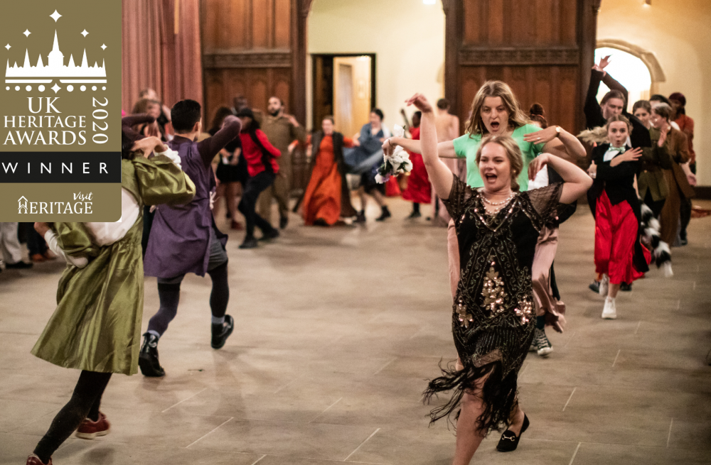 Performers dancing at Eltham Palace for 'Our House'