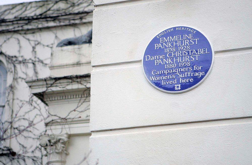 Pankhurst's Blue Plaque