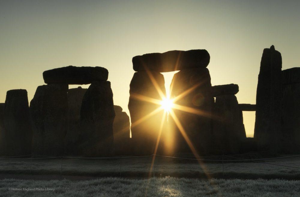 Stonehenge with the sunrise