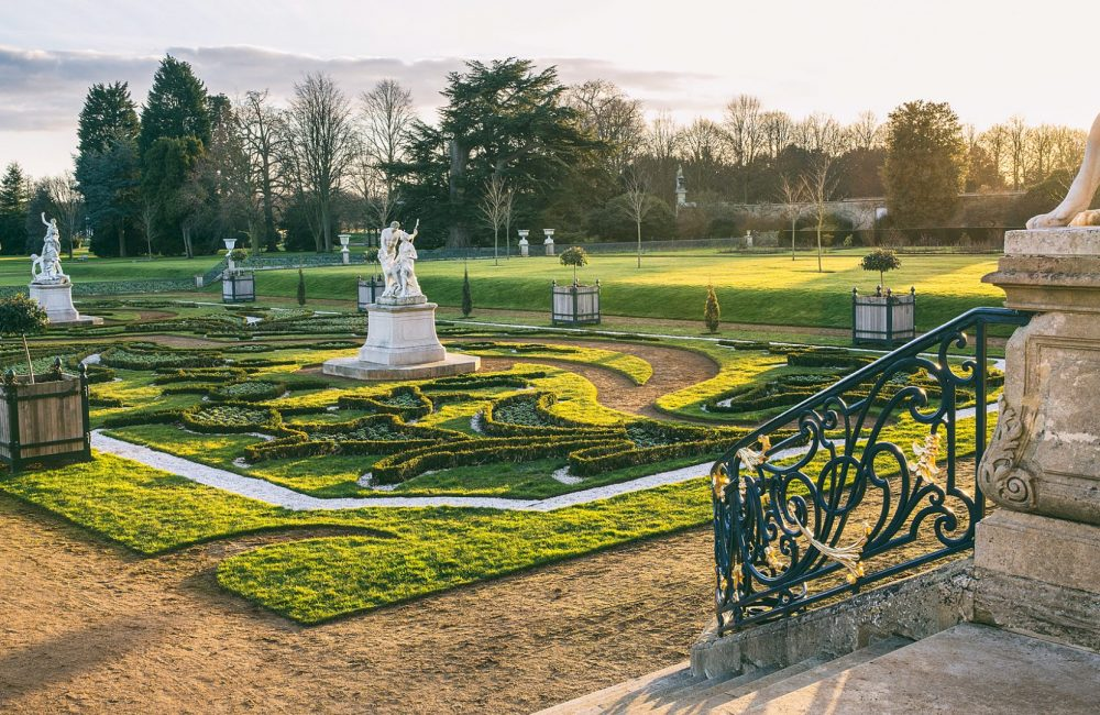 Wrest Park Gardens in sunlight