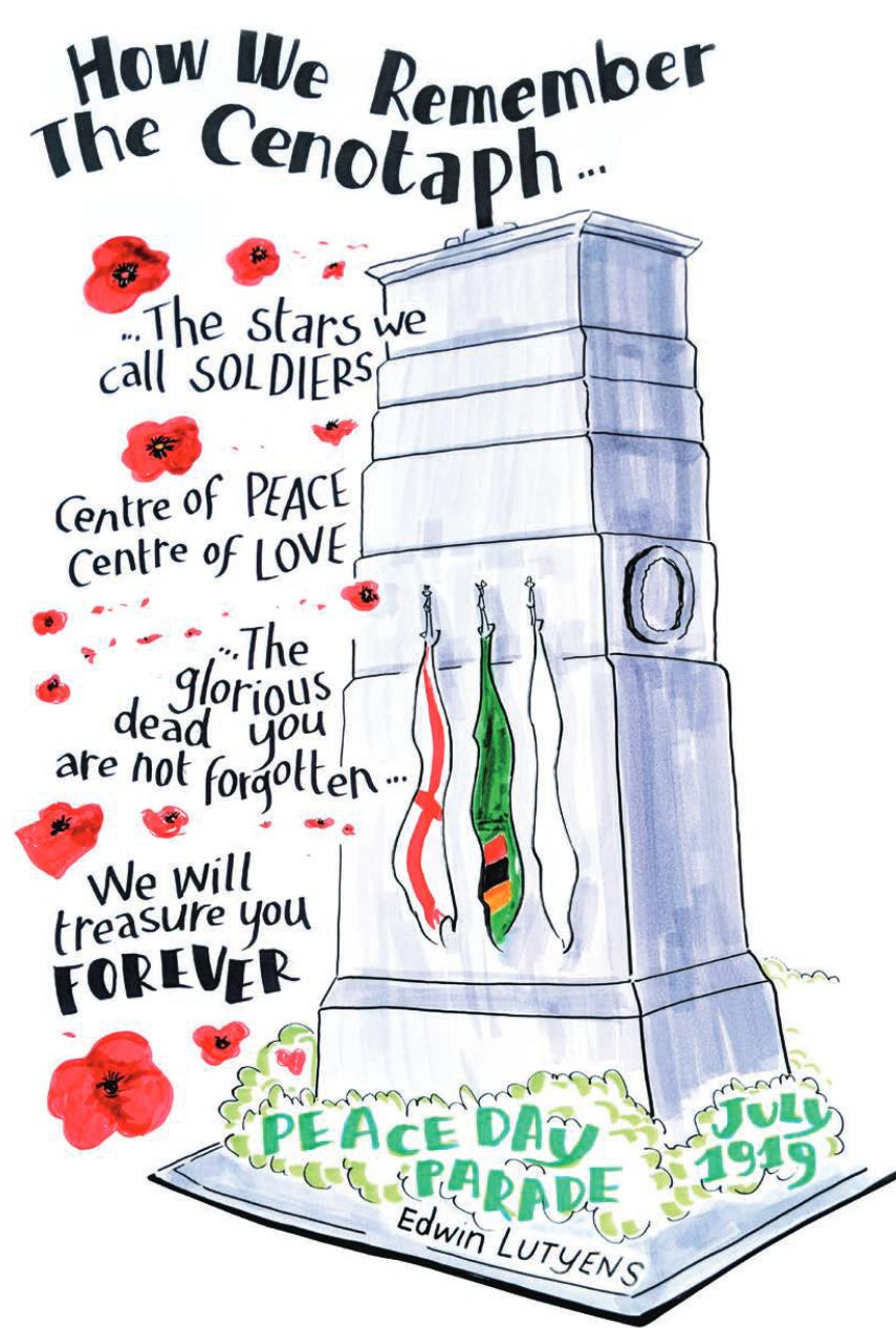 Illustration of Cenotaph Poem