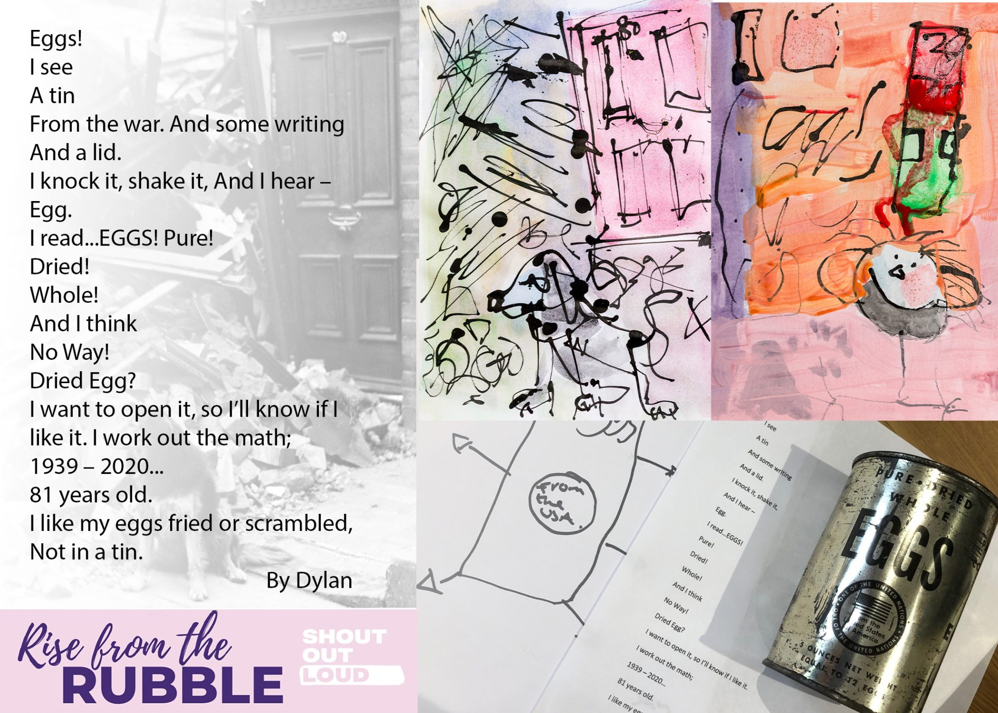 Poem written by Dylan, who participated in the Rise from the Rubble project