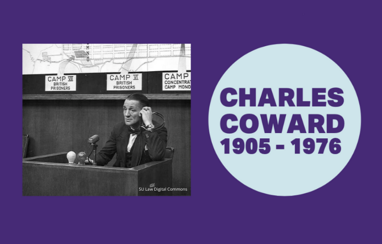 Graphic with image of Charles Coward