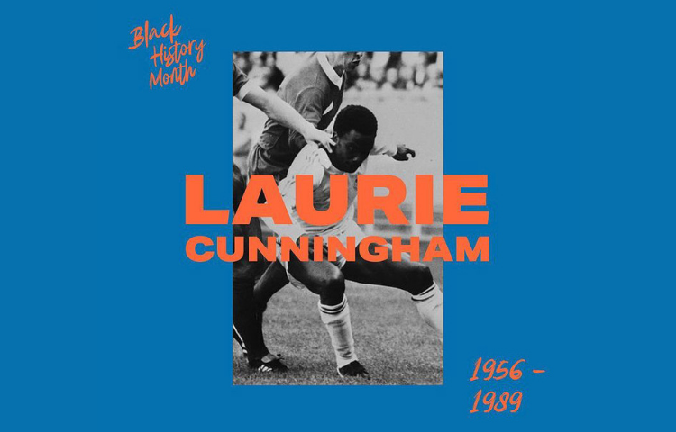 Graphic of Laurie Cunningham playing football