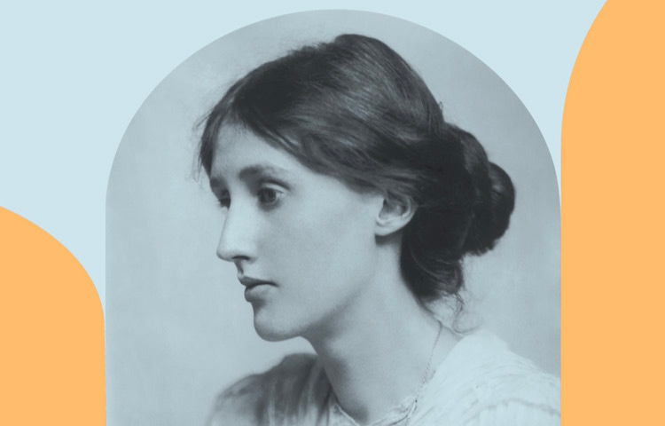 Graphic with image of Virginia Woolf