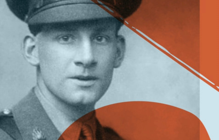 Graphic with photo of Siegfried Sassoon