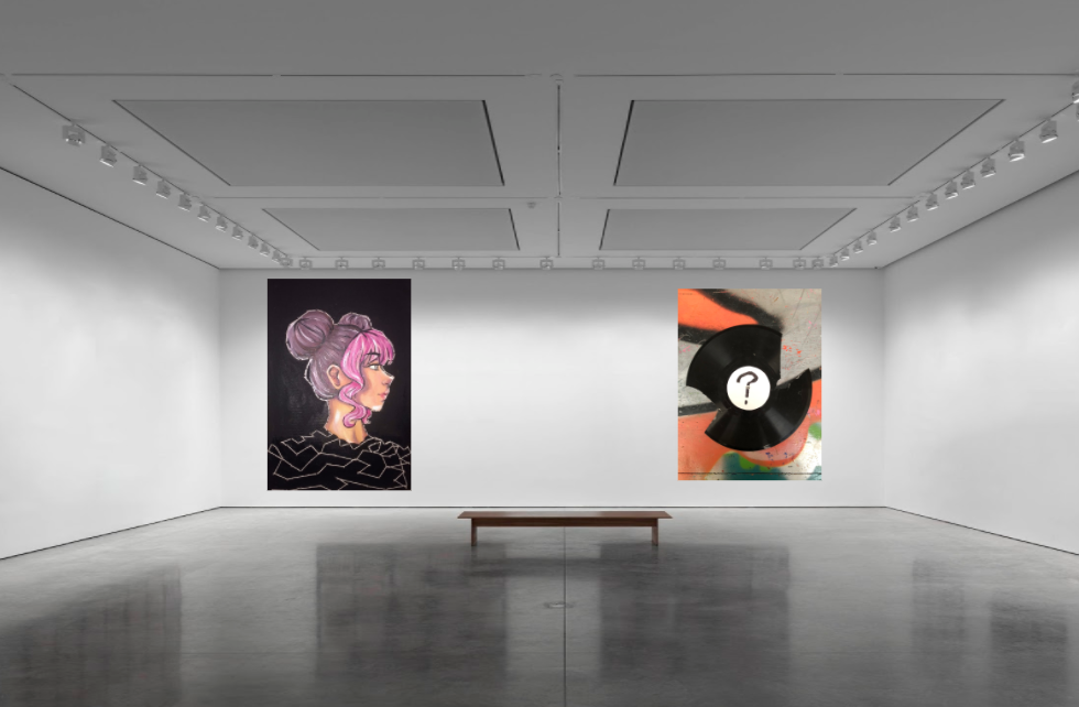 Carefree project drawings hanging in a virtual gallery