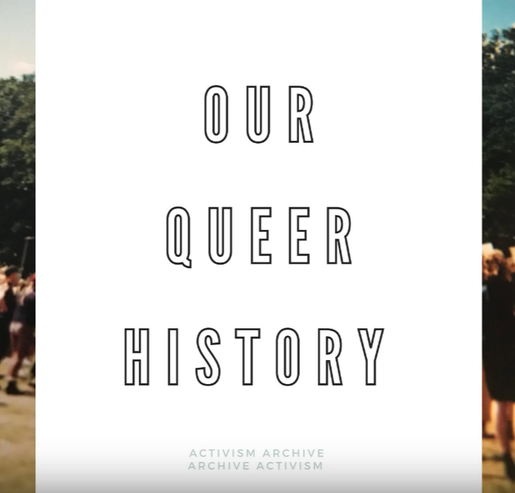 Cover of the Our Queer History Zine