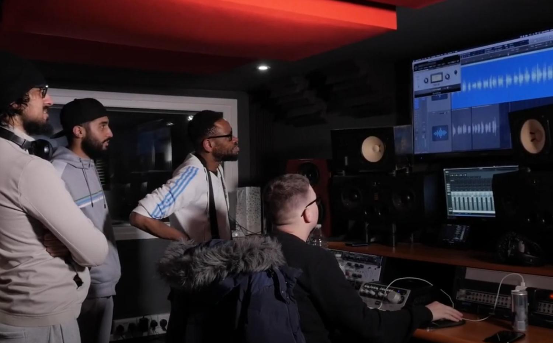 SoCo group in the recording studio