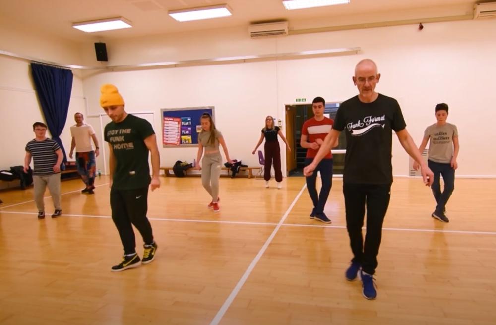 Dancers learning steps