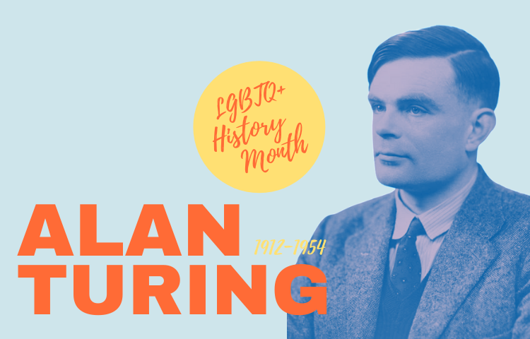 Graphic with image of Alan Turing