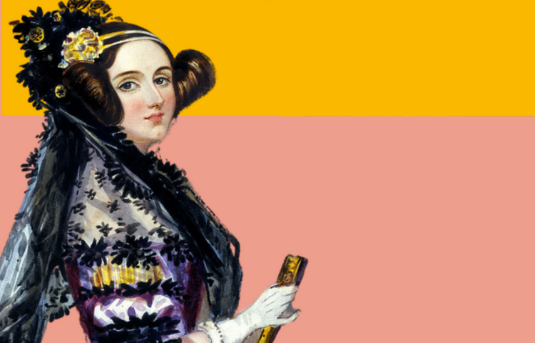 portrait of Ada in a yellow and purple dress