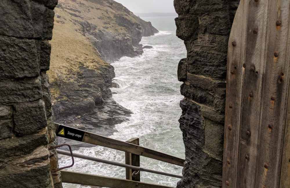 View to the sea at Tintagel