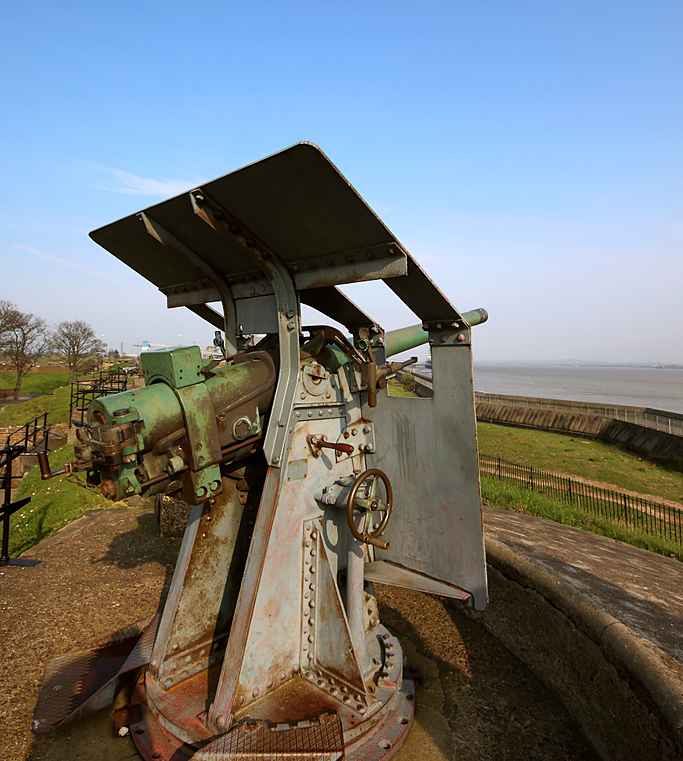 Gun at Tilbury Fort overlooking the Thames