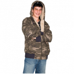 Man in hoodie smiling
