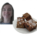 Ruby with a plate of brownies